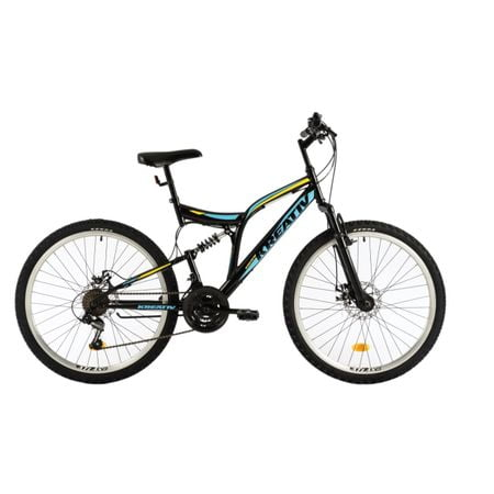 Bicicleta Dhs Kreativ 2643 (2018) culoare Negru-Albastru