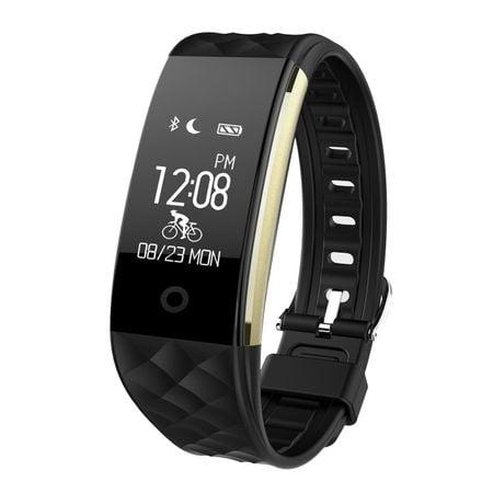 Bratara Fitness Inteligenta SMART MAX, Monitorizare Ritm Cardiac si Tensiune arteriala, Monitorizare Calorii, Monitorizare Somn, SYNC, NOTIFICARI Apeluri/Mesaje, Anti-lost, Compatibil Androis/iOS, Black Edition