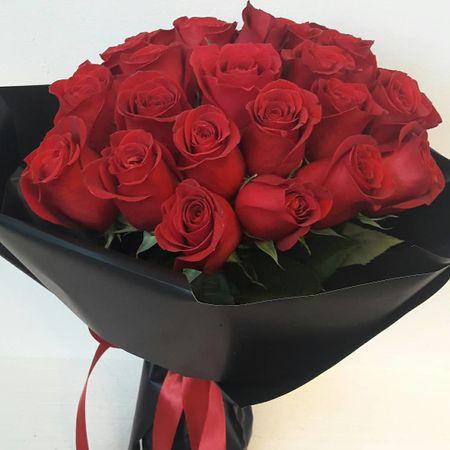 Buchet cu 25 trandafiri rosii Freedom