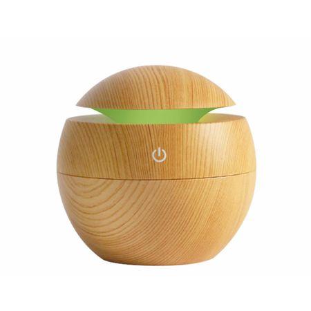 Difuzor aroma terapie, Aroma Care, stejar deschis, 150 ml, 7 culori + Cadou Ulei aroma terapie 10ml