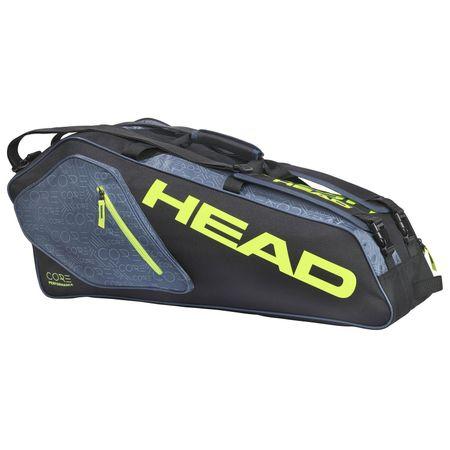 Geanta de tenis Core Team 6R Combi Head, negru