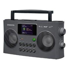 Radio digital portabil cu internet Sangean WFR-29C, USB, Display color, Player retea, Gri