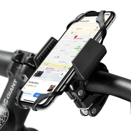 Suport Telefon pentru bicicleta si motocicleta, Protectia Anti-Alunecare, Curea Cauciuc, Widras