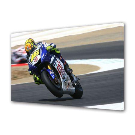 Tablou Canvas Personalitati Valentino Rossi Moto GP, 70 x 100 cm