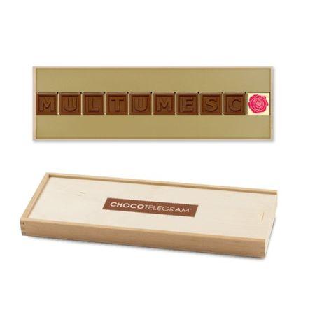 Telegrama din ciocolata - Multumesc!