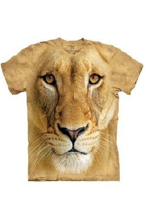 Tricou cu imprimeu 3D leu/leoaica