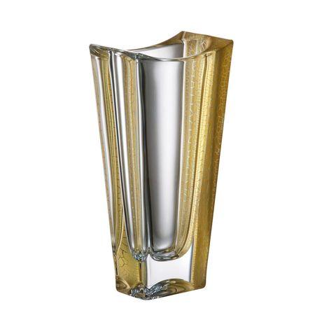 "Vaza Cristal Bohemia ""Okinawa"" Decor Aur 25 cm"