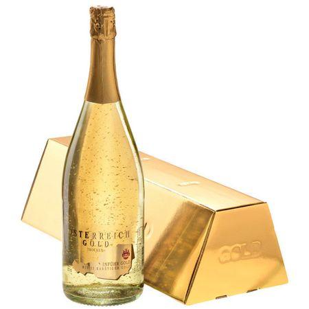 Vin Spumant cu Foita de Aur 23 K Alimentar - Osterreich Gold - 750 ml , 9,5%