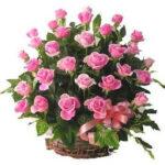 Cos 39 trandafiri roz