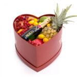 Inima fructe exotice si sampanie de lux