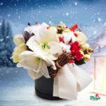 cutie de craciun cu flori