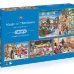 Set 4 puzzle x 500 piese Scene de Craciun