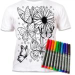 Tricou de colorat cu markere lavabile Fluturi