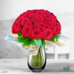 Buchet de 45 trandafiri rosii