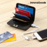 Suport carduri antifrauda si baterie externa