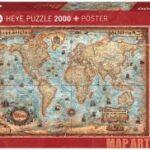 Puzzle 2000 de piese Map Art The World